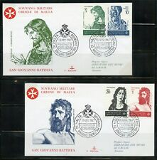 SOVEREIGN ORDER OF MALTA 1967 SET OF TWO GIOVANNI BATTISTA FIRST DAY COVERS