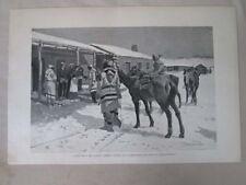 Vintage Print,WHITE MANS BIG SUNDAY,Harpers,c1880,Remington