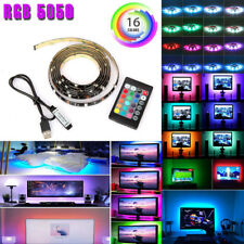 USB Powered RGB 5050 LED Strip Lighting for TV Computer Background Light 2m/6ft