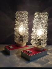 Pair of Mid Century Bubble Glass table lamps - 1960's - Bedside Lamps
