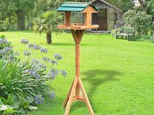 Nouveau en bois oiseau table maison jardin oiseaux feeder feeding station autoportante
