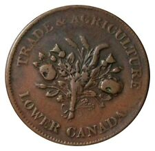 LOWER CANADA MONTREAL TRADE & AGRICULTURE BOUQUET UN SOUS TOKEN BR-714