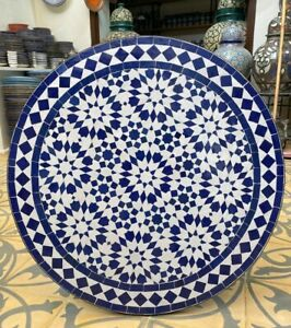 Handmade Moroccan mosaic table / round mosaic table / dining table in