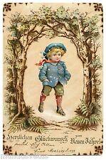 Enfant . Patins à glace . Ice skates . Nouvelle Année 1901 . New year. Child