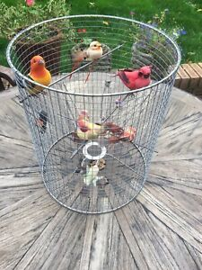 Large Bird Cage Lamp Shade Quirky