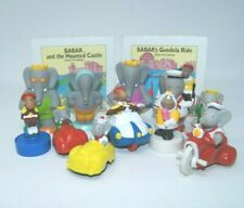 Lot of 13 Babar The Elephant Toy Figures Puzzles Arby's Vintage 1990 1991 cars