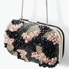 Beaded with Magnetic Snap Clutch Handbags