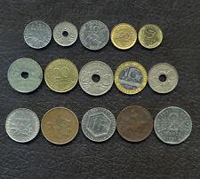 Lot de pièces de monnaies Française / 5 centimes de 1916 à 1996 / P15