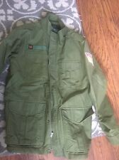 Habitat Army Military Jacket skateboard Coat M Medium Skater vintage Fur Lined