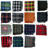 "Scottish Clan Tartan Kilt Fly Plaid Purled Fringe Acrylic Wool 48"" x48"" Highland"