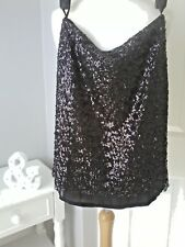 LUCY&CO black sequin skirt size US M/L uk 10/12 party evening occasion Brand New