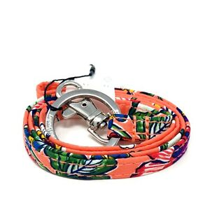Vera Bradley Lanyard with Signature Key Ring & ID Clip in Coral Floral NWT
