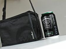 6 Can Drinks Coolbag Cool Bag Box Small Camping Festivals Picnic Black Cooler UK
