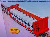 USA Trains G Scale R174PK Pipe Load for CENTER I-BEAM FLAT CAR NEW ITEM