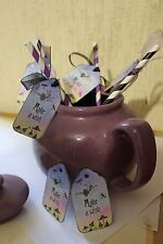 Make A Wish Fairy Straws With Tags - Set of 6