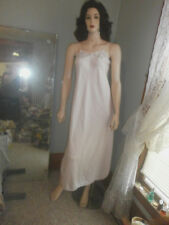 """GORGEOUS MISS  DIOR  PINK SATIN NIGHTGOWN -  34"""" BUST"""