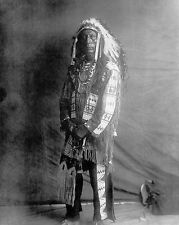 OGLALA SIOUX INDIAN EDWARD S. CURTIS 8x10 SILVER HALIDE PHOTO PRINT