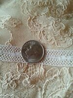 Antique Vtg French Lace Doll Insert Edging Sewing Insertion Trim 1 Yard
