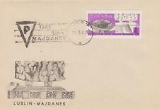 Poland postmark LUBLIN - concentration camp, WW II MAJDANEK (analogous)