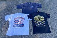 Lot Of 3 Vintage New York Yankees Tees - Yankees T-shirts - Mixed Lot