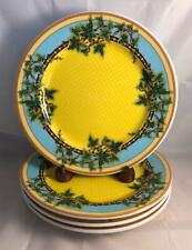 Set of 4 Rosenthal Versace IVY LEAVES PASSION Dinner Plates Stunning!