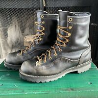 Danner Rain Forest GTX Boots 8.5 Black Gore Tex Leather ASTM Rated 14100
