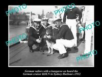 OLD 8x6 HISTORIC PHOTO OF GERMAN  NAVY SHIP KOLN IN SYDNEY c1932 KANGAROO