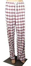 Calvin Klein Women's Sleepwear Lounge Pants Pajamas Medium Red White Plaid $50