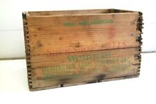 Remington Shur Shot Shells Wood Ammo Box