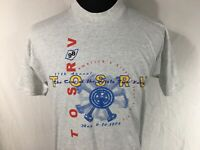 TOSRV Scioto River Bicycle Touring Classic Adult Large Gray T Shirt Vintage 1998