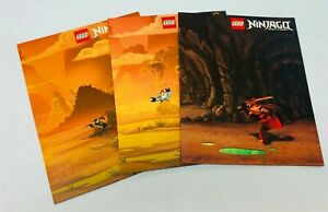 Lego Ninjago Folders Set of 3 Masters of Spinjitzu 3 Ring Pocket Folders