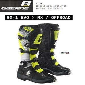 Stivali enduro cross moto GAERNE GX-1 EVO OFFROAD white black yellow 2185019