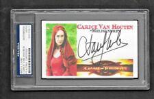 """Game Of Thrones"" Carice Van Houten ""Melisandre"" Autographed 3x5 Index Card"