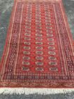 """VINTAGE HAND MADE ORIENTAL RUG 4'x 6'7"""" Wool Pile Hand Knotted VTG, Red"""