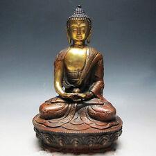 8 inch / OLD TIBETAN BRASS BUDDHISM BODHISATTVA SAKYAMUNI BUDDHA STATUE
