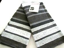 """KitchenAid Terry Cloth Kitchen Towel Set with Striped Deluxe Silver 16""""x26"""""""