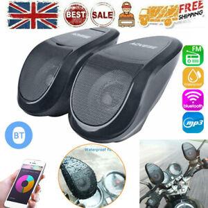 Motorcycle Bluetooth Handlebar MP3 Audio System U Disk FM Radio Stereo Speaker