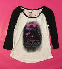 Fifth Sun Star Wars Licensed Darth Vader Raglan Baseball Tee NWT