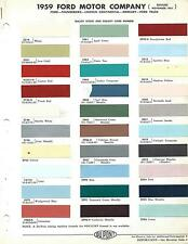 1959 FORD MERCURY THUNDERBIRD LINCOLN CONTINENTAL PAINT CHIPS