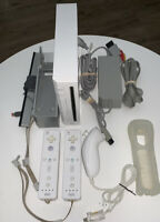 Nintendo Wii Console Bundle w/ 2 Controllers (GameCube Compatible) - White