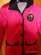 Pineapple girl's fuschia pink quilted jacket, aged 6-7 years