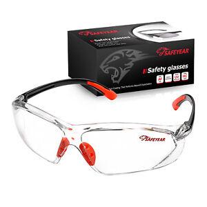 SAFEYEAR Schutzbrille Anti-Fog UV Kratzfestes Halsband Z87 + Augenschutz Orange