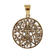 Bronze Cernunnos Pentacle Pendant - Wicca/Pagan Horned God Talisman/Amulet