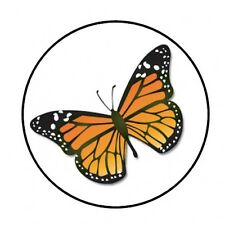 """48 MONARCH BUTTERFLY ENVELOPE SEALS LABELS STICKERS 1.2"""" ROUND"""