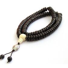 Dalbergia Louvelii Wood Tibet Buddhist 108 Prayer Beads Mala--Elastic Cord