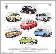 Clásico Renault-Fine Art Print - 4cv Dauphine Floride R4 R5 R8 R16 automóviles franceses