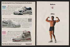 1989 REEBOK Cross Training Sneakers - AXT - CXT - SXT - 2 Page VINTAGE AD