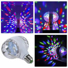 E27 Disco Stage RGB LED Lights Crystal Ball Bulb Two-Head Rotating Party Lamp US