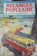 REVUE MECANIQUE POPULAIRE N° 017 PECHE FORET PACIFIQUE TABAC LOS ANGELES 1947