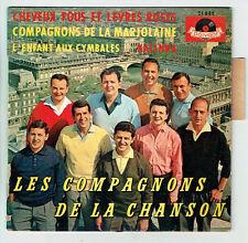COMPAGNONS CHANSON Vinyle 45T EP CHEVEUX FOUS LEVRES ROSES - MARJOLAINE -KALINKA